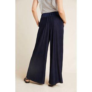 Anthropologie Delano Knit Blue Wide Leg Pants XS
